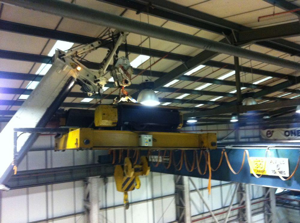 Kone Overhead Crane Parts : Used kone tonne metre twin beam overhead crane