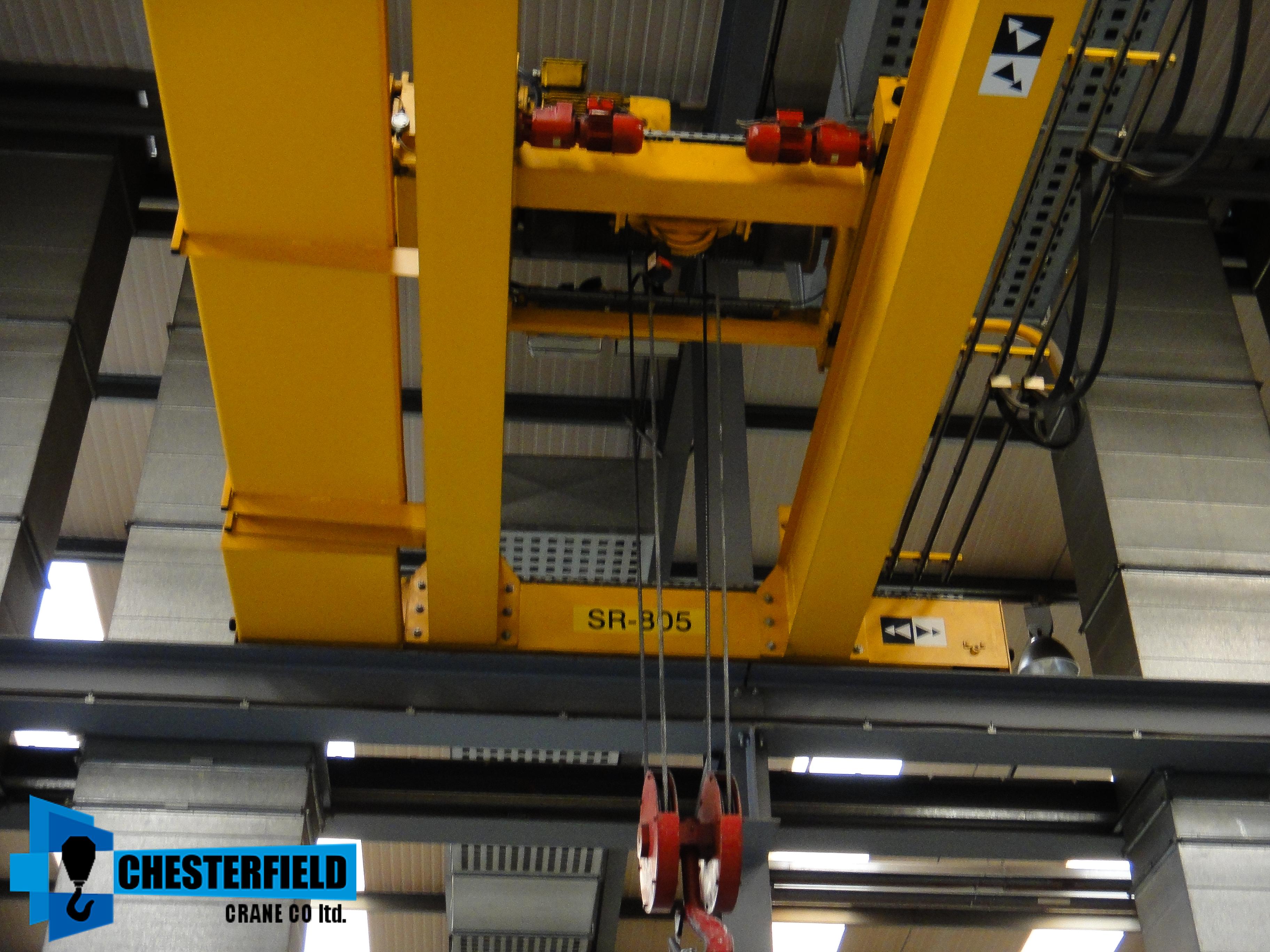Overhead Crane Parts Uk : X used street tonne twin beam meter span overhead