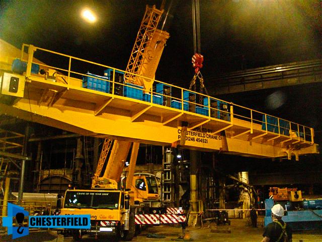 Overhead Crane Parts Uk : Brand new tonne overhead crane with meter twin beam