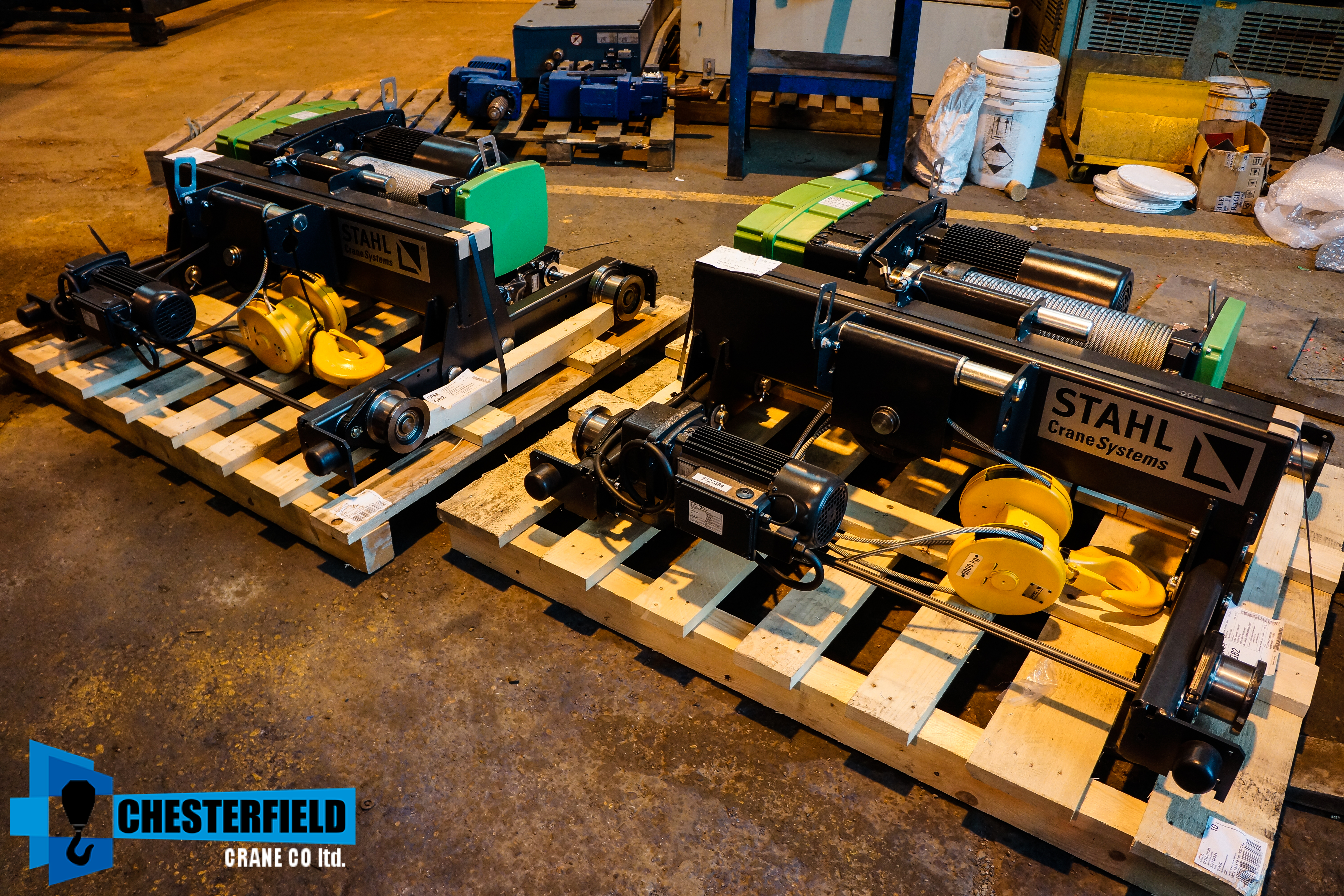 Brand New Stahl SH4012-20 M5 Duty Wire Rope Hoist and Trolleys Units
