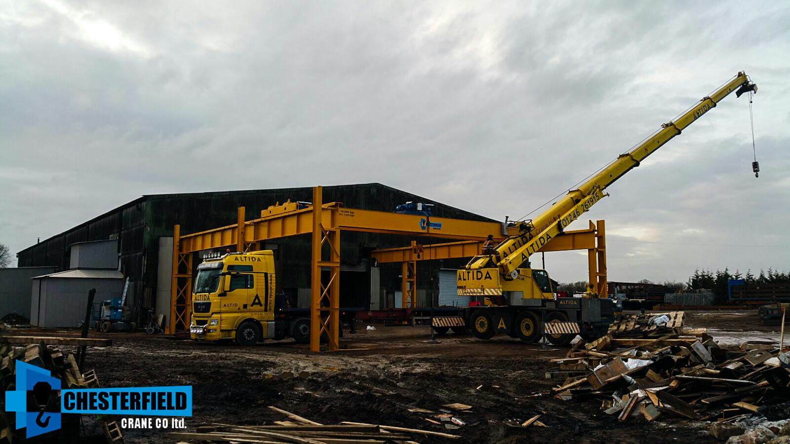 Overhead Crane Parts Uk : Altida mobile crane installing a refurbished demag