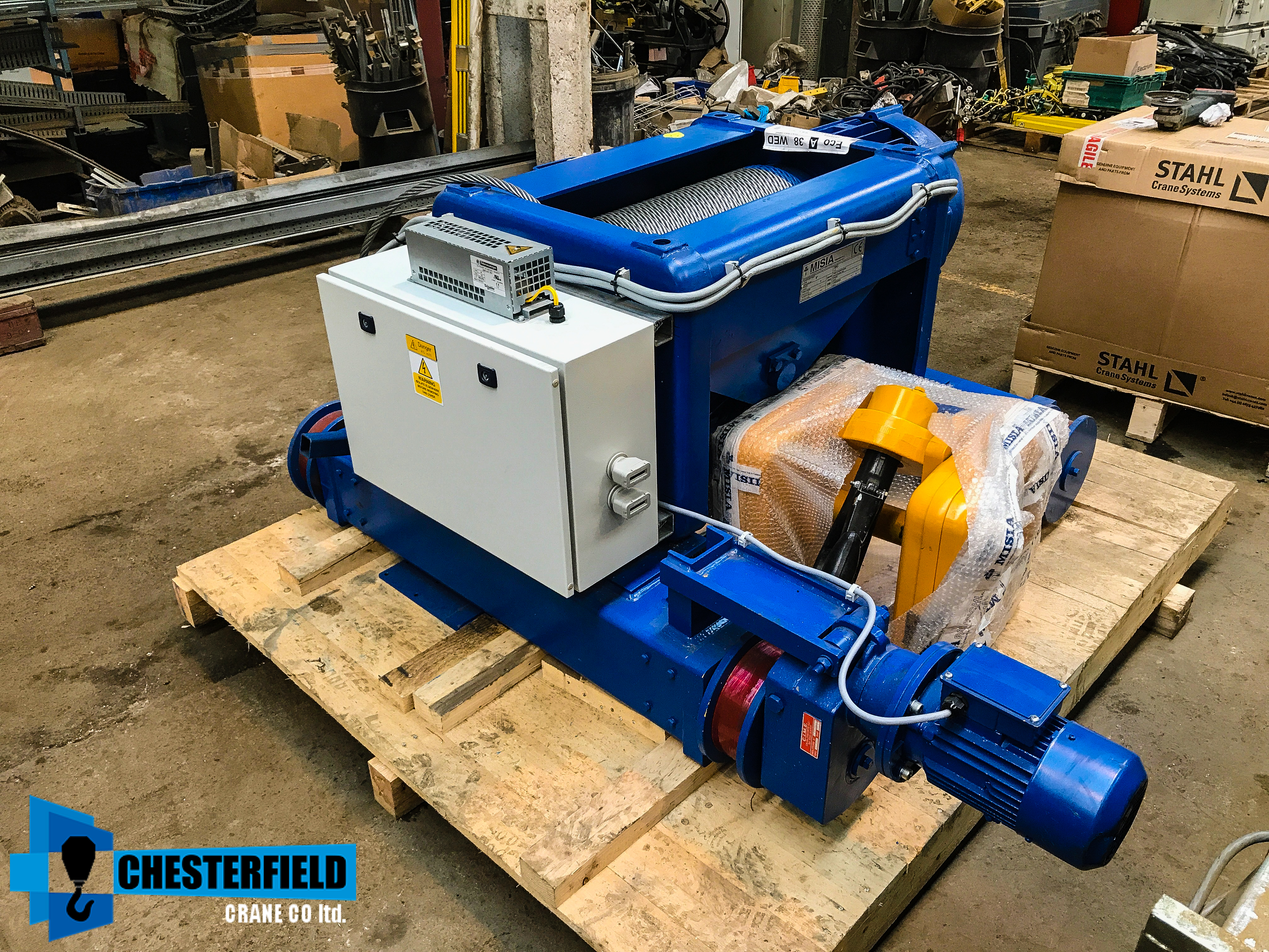 Wire Rope Hoist Electric Mobile For Sale Uk Chesterfieldcrane Stahl Wiring Diagram Brand New Misia 125 Tonne M6 Top Mounted