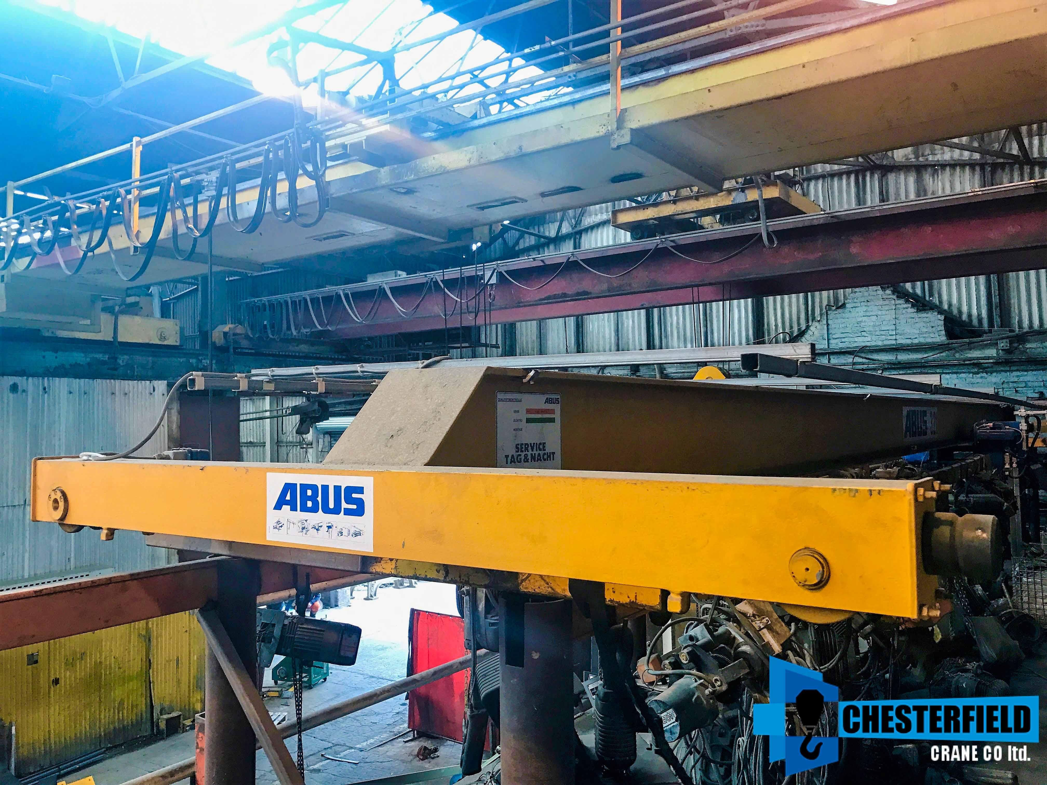 used 1997 abus 3 2 tonne 14 metre single beam m4 overhead crane for