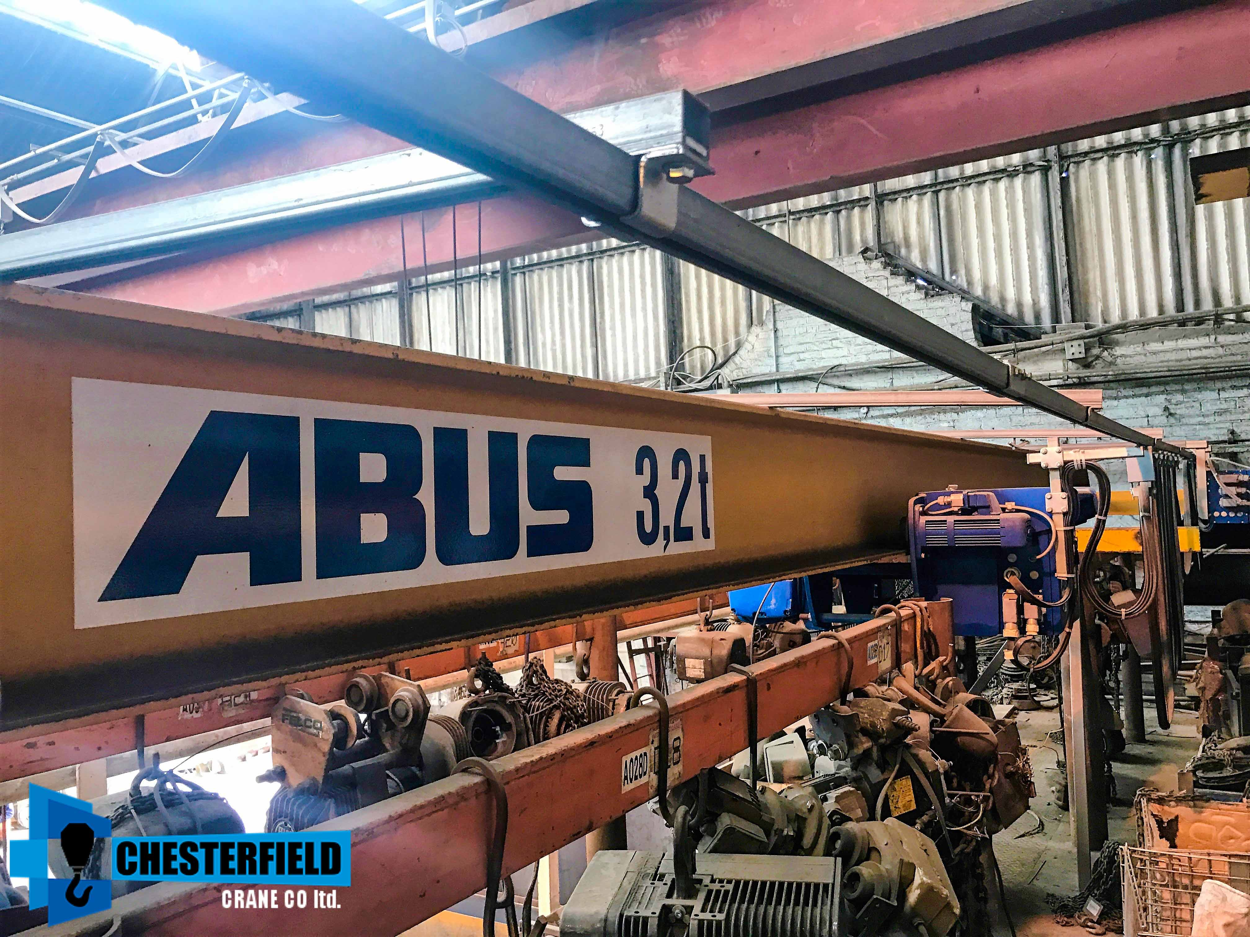 Used 1997 Abus 32 Tonne 14 Metre Single Beam M4 Overhead Crane For Diagram All Cases There Is An Cranes Gantry Gallery Thumbnail